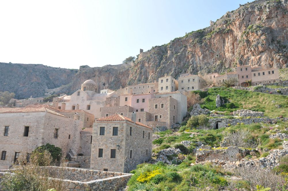 View inside the Castle of Monemvasia
